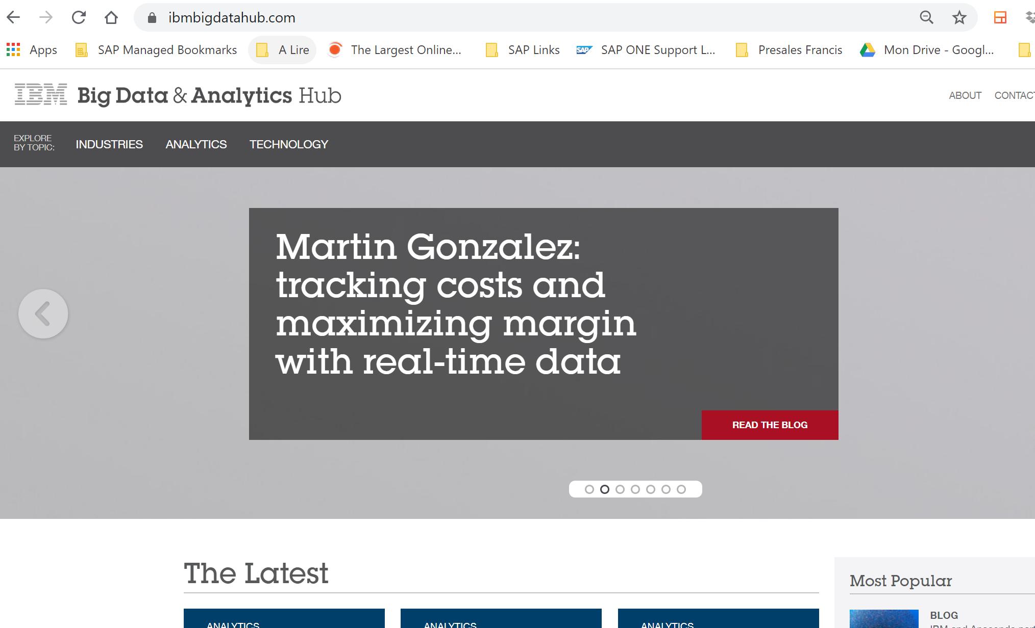 Sites & blogs | IBM Big Data & Analytics Hub